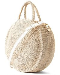 Clare V. - Alice Basket Bag In Cream - Lyst