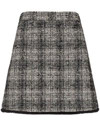 Marella Pontiac Short Check Skirt - Black