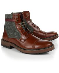 Ted Baker - Men's Ruulen Leather/textile Boots - Lyst