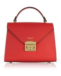 Le Parmentier Women's 070red Red Leather Handbag