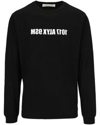 1017 ALYX 9SM Mirrored Logo Long Sleeve T-shirt - Black