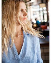 Nrby Chrissie Linen Cross Dyed Shirt - Blue