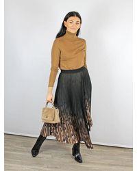 By Malene Birger Asymmetric Pleated Skirt Black