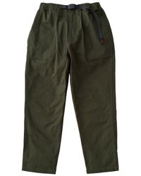 Gramicci Back Satin Loose Tapered Trousers Deep Olive - Green