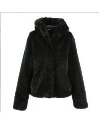 Oakwood - Electro Hooded Fake Fur Jacket In Green - Lyst