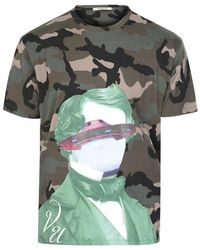 Valentino V Face Ufo Camouflage T-shirt - Green