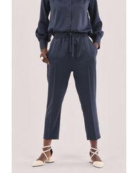 Closet Navy Elasticated Waist Trousers - Blue