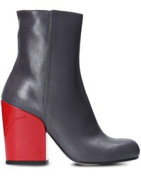 Tipe E Tacchi Leather Ankle Boots - Grey