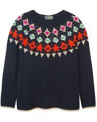 Wyse London Holly Fairisle Knit - Blue