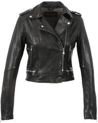 Oakwood Kyoto Leather Biker Jacket Colour: - Black