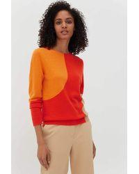 Chinti & Parker Chinti & Parker Flash Sweater - Vermillion / Orange / Biscotti - Red