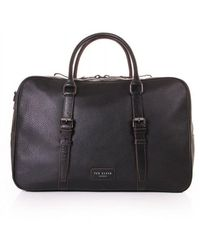Ted Baker Mens Waine Leather Holdall - Black
