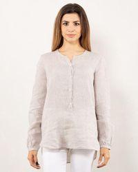 Bagutta Linen Shirt Seraph - Multicolour