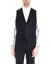 Tagliatore - Men's 12wig239t3478 Blue Wool Vest - Lyst