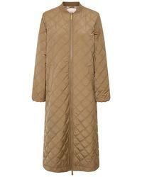 Part Two Edith Khaki Coat - Natural