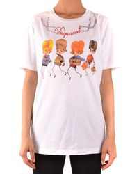 DSquared² Tshirt Short Sleeves Dsquared - White
