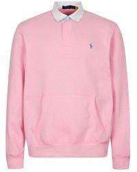 Ralph Lauren Long Sleeve Rugby Shirt - Pink