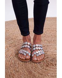 Les Tropeziennes Horond Disc Sandal In Multi - Metallic