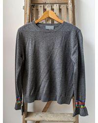 Wyse London Marine Sequin Ruffle Charcoal Sweater - Grey
