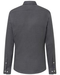 Hackett Double Faced Pow Flannel Shirt - Grey