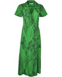 0039 Italy Havanna Maxi Wrap Shirt Dress - Green