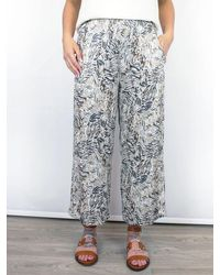 Conditions Apply Jesri Wide Leg Trousers Printed - Grey