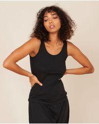 Beaumont Organic Catori Organic Cotton Yoga Top In - Black