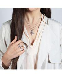 V Jewellery Margot Pendant - Metallic