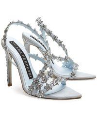 Chiara Ferragni Sandal In Silver Star - Metallic