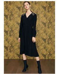 Idano - Courgette Snake Embellished Dress - Lyst