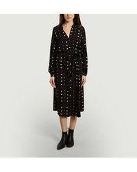 Diega Ruka Geometric Pattern Shirt Dress - Black