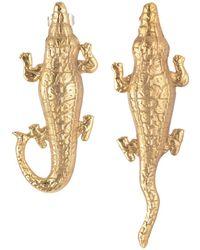 Natia X Lako - Small Crocodile Earrings - Lyst