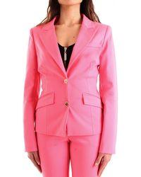 Guess Fuchsia Cotton Blazer - Pink