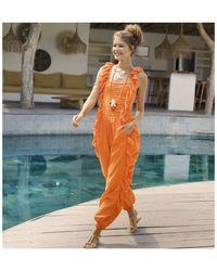 Feather & Find Stardust Jumpsuit - Orange