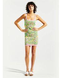 Hayley Menzies Samui Blooms Jacquard Mini Slip Dress - Green