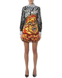 Moschino Printed Shirt Dress - Multicolour