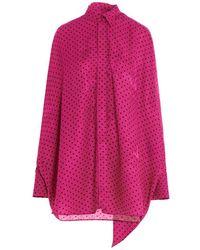 Balenciaga Fuchsia Viscose Blouse - Pink