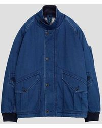 Nigel Cabourn X Closed Jacket In Limoges - Blue