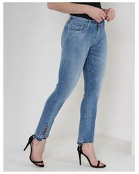 Replay Dominqli Cropped Jeans Colour: Light Wash - Blue