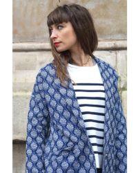 Suncoo Eleanore Bleu Coat - Blue