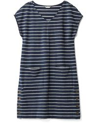White Stuff Ladies Day To Day Stripe Jersey Dress - Blue