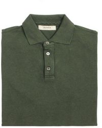 Alpha Studio Polo Pique Short Sleeve Military - Green