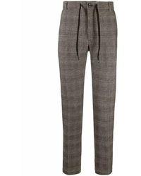 Circolo 1901 1901 - Fondente Checked Stretch Cotton Jogging Trouser Cn3254 - Brown