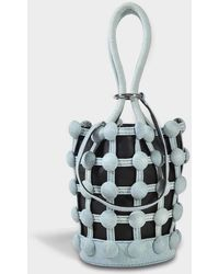 Alexander Wang Roxy Cage Mini Bucket Bag Bags > Tote Bags Woman - Blue