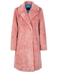 Stine Goya - Concord Pink Faux-fur Coat - Lyst