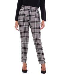 PT01 Women's Bt66vscez00stdblack Black Wool Trousers