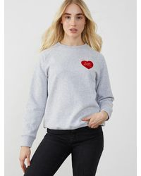 South Parade Heather Grey 'love 24hrs' Sweatshirt