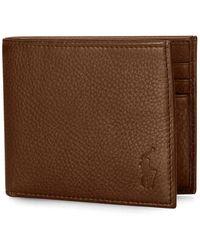 Ralph Lauren Leather Billfold Wallet , - Brown