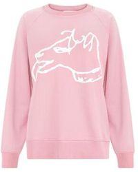 Bella Freud Big Dog Sweatshirt - Pink