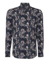 Remus Uomo Uomo Tropical Shirt Navy - Blue